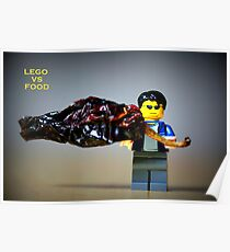 Lego vs Food Poster