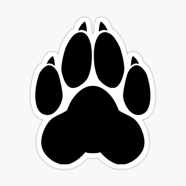 Wolf PawPrint Sticker