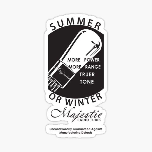 vintage radio tubes ad Sticker