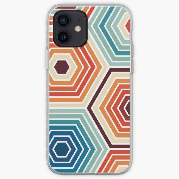Seamless Hexagon Geometric Pattern iPhone Soft Case