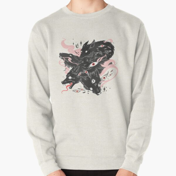 Wild Wolves With Many Eyes Pullover Sweatshirt