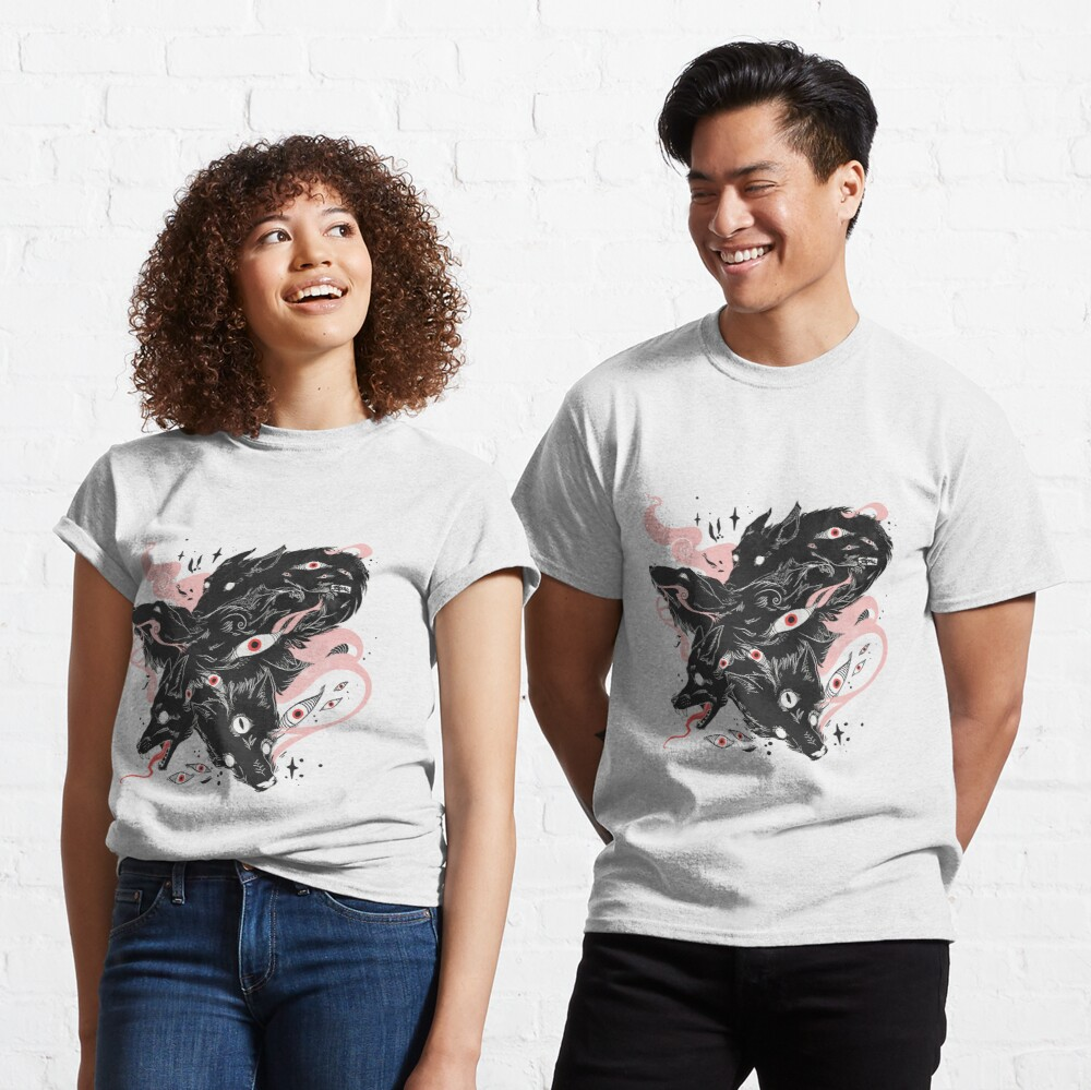 Wild Wolves With Many Eyes Classic T-Shirt