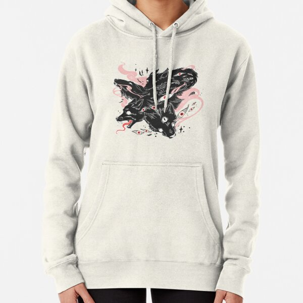 Wild Wolves With Many Eyes Pullover Hoodie