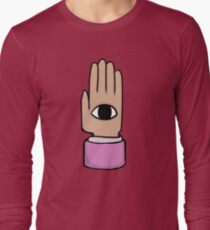 Nichijo Eye hand shirt design  Long Sleeve T-Shirt