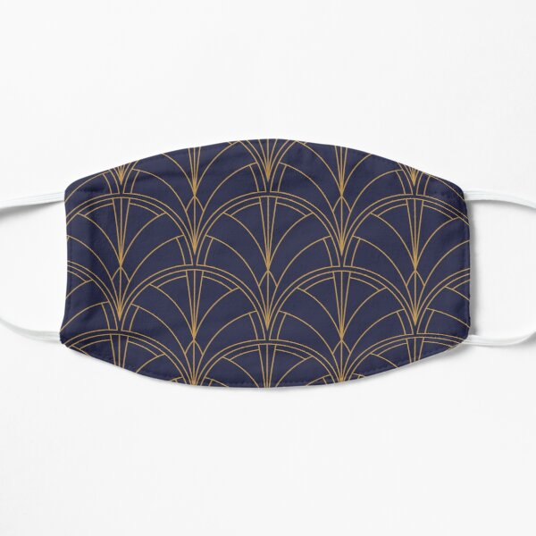 Art déco gold archs twenties abstract pattern Mask