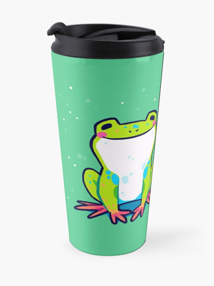 """Alternate view of """"You Are Enough As You Are Today"""" Tree Frog Travel Mug"""