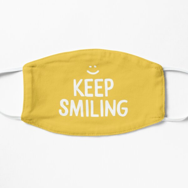 Keep Smiling - Yellow Happiness Quote Mask