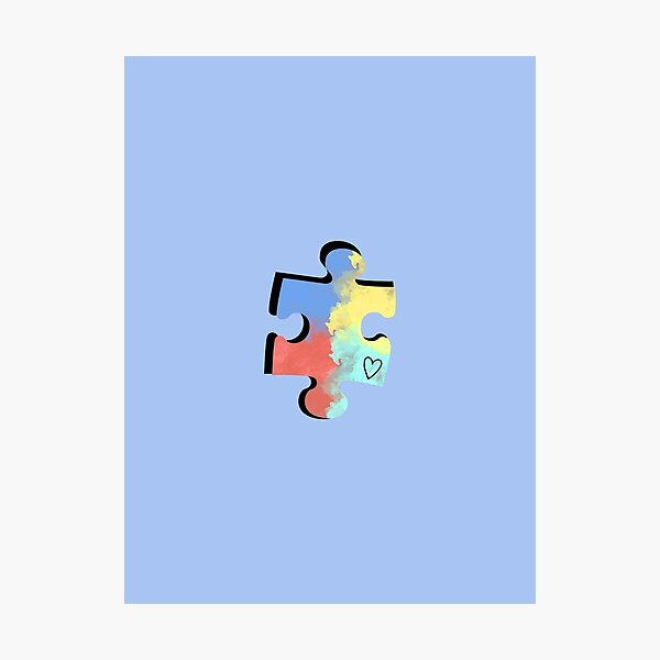 Autism Puzzle Piece Photographic Print