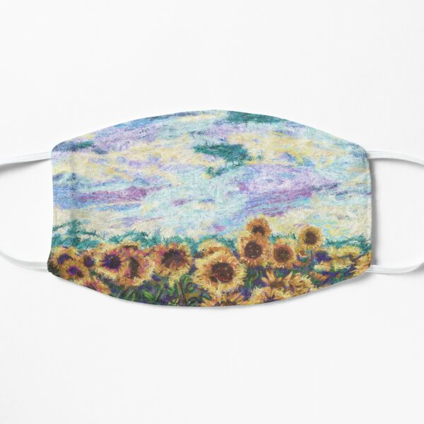 Sunflower Field Painting Flat Mask