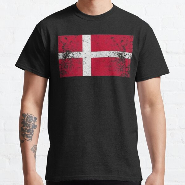 Dänemark T-Shirt Vintage Dänemark Flagge für Männer / Frauen / Jugend / Kind Classic T-Shirt