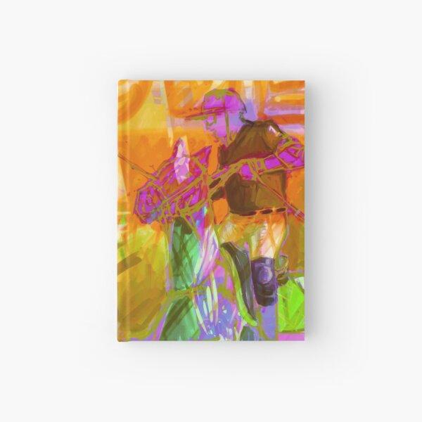 polo player orange Hardcover Journal
