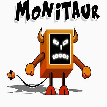 Monitaur for black shirt by Supaflysamurai