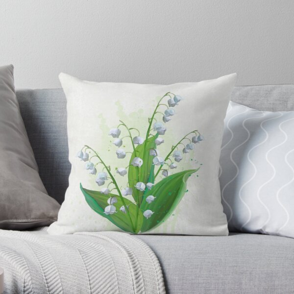 Lily of the Valley Splash (PCD3193) Throw Pillow