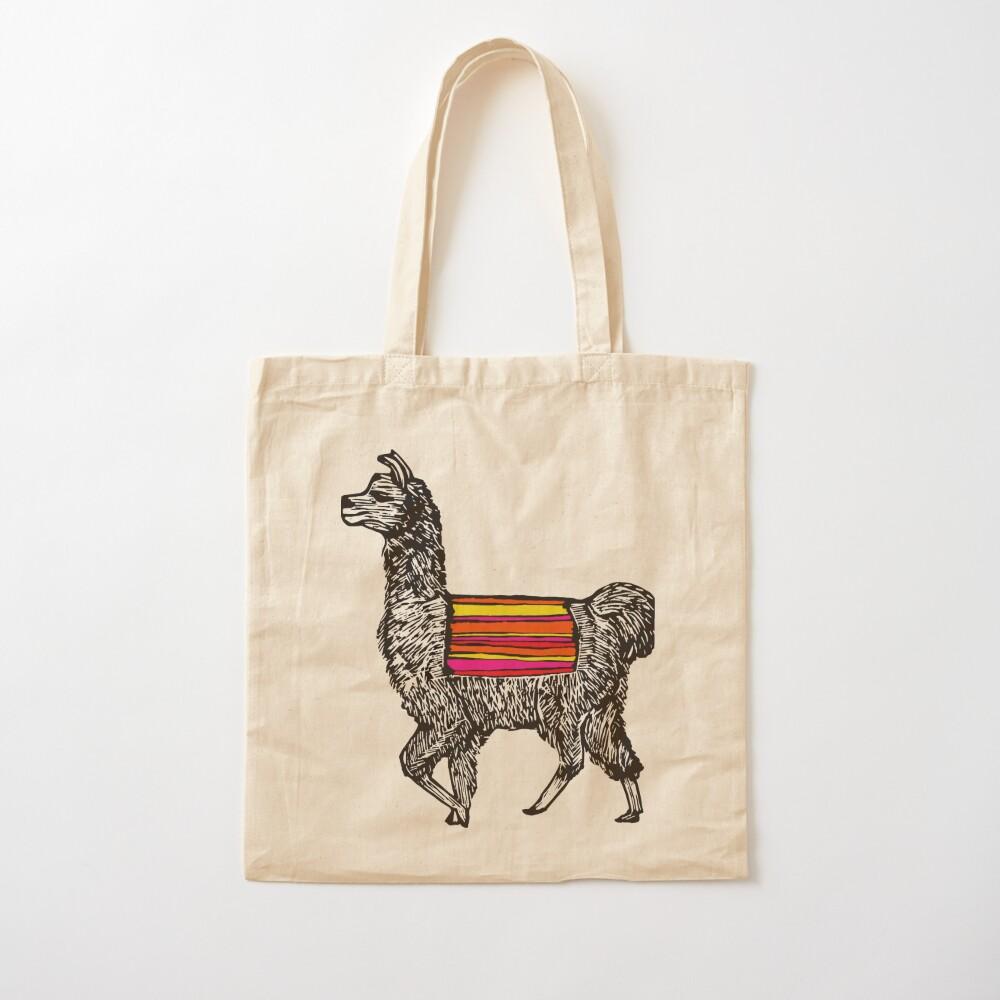 llama gift for her Cotton shopping bag with alpaca design llama accessories for women Llama Tote Bag