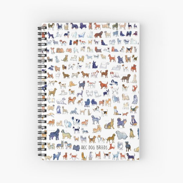 Every AKC Dog Breed Spiral Notebook