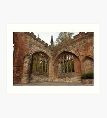 Ruins of St Michael's Cathedral Coventry Art Print