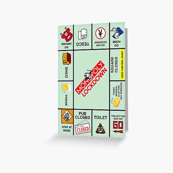 Monopol-Sperrung   Geburtstagskarte Grußkarte