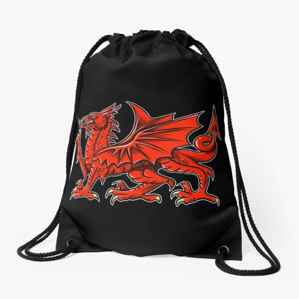 """Dragon 2"" mask 018 Drawstring Bag"
