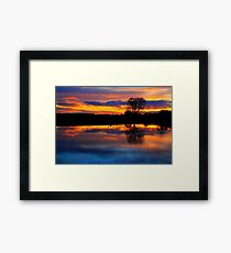 April Sunset over the River Tees, at Broken Scarr. Framed Print