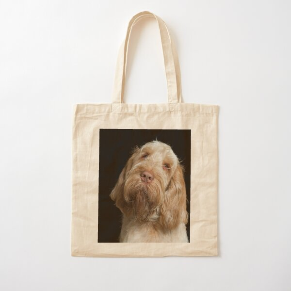 Head tilt Spinone Cotton Tote Bag