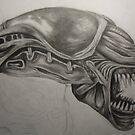 Alien - Drawing by Tam Edey