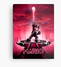 MARIOTRON - Movie Poster Edition Metal Print