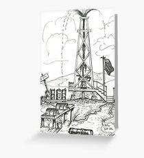 OLD OIL TOWN U.S.A.  ( BUY U.S. OIL ) Greeting Card