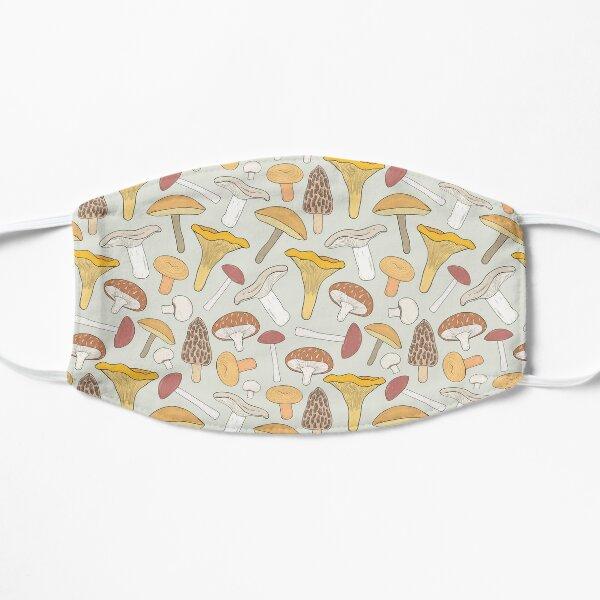 Edible mushrooms seamless pattern. hand drawn fungi mask Mask