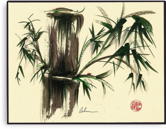"""Gentle Soul"" - Little ladybug in her bamboo haven by Rebecca Rees"