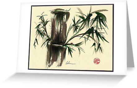 """""""Gentle Soul"""" - Little ladybug in her bamboo haven by Rebecca Rees"""