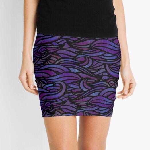 Purple waves Mini Skirt