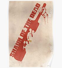 Shaun of the Dead Cricket Poster