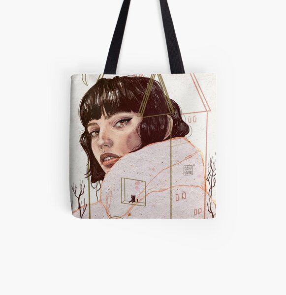 CONFINED All Over Print Tote Bag