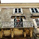 Balcony Woman, Corfu, Greece by Nevermind the Camera Photography