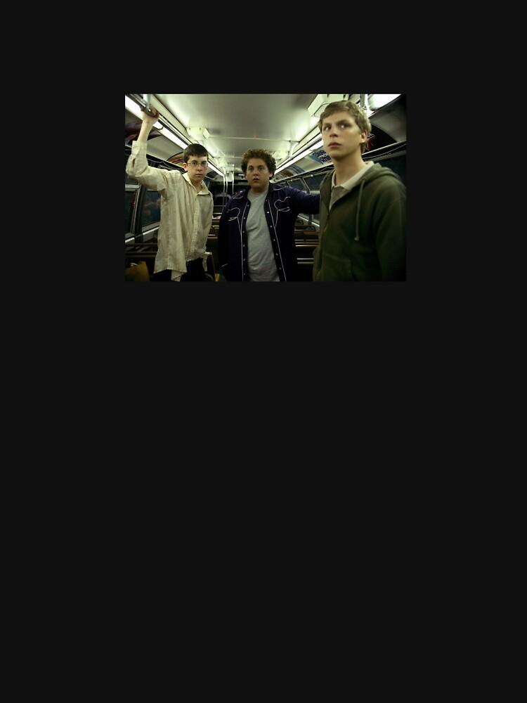 SUPERBAD Train Scene Still by Bebelle