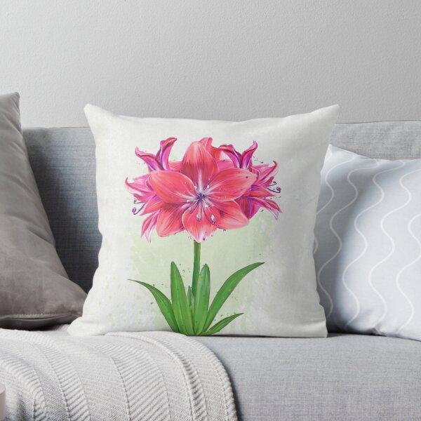 Amaryllis Splash (PCD3193) Throw Pillow