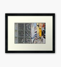 Diner Windows and Reflections Framed Print