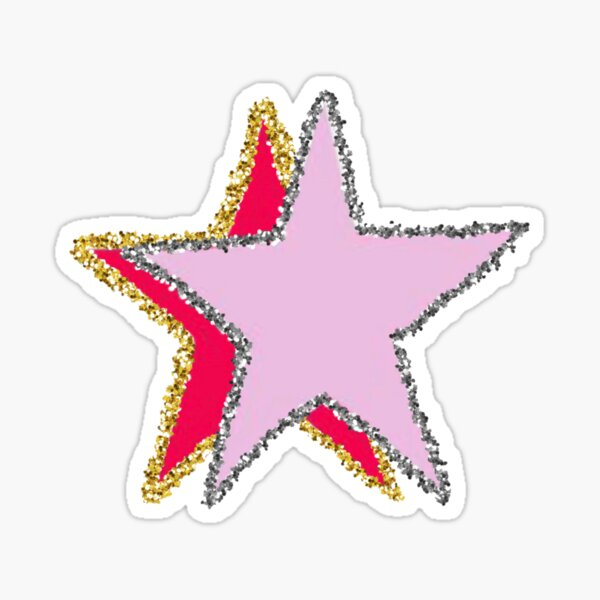 pink sparkle stars! Sticker