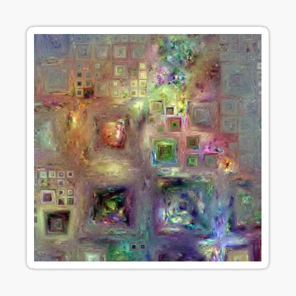 Crystalline Squares 8 Sticker
