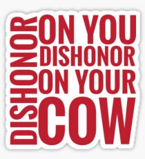 DISHONOR! Sticker
