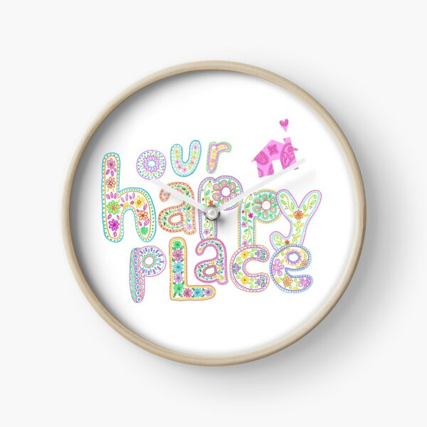 Our Happy Place Clock