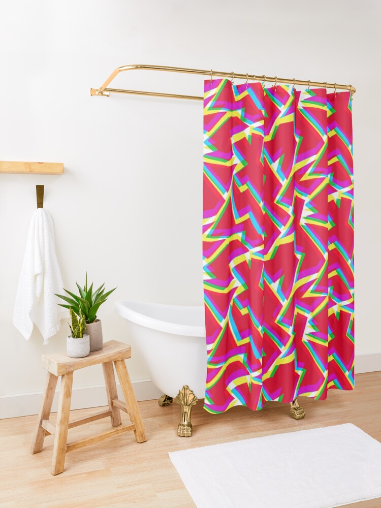 Alternate view of Maxi shatter Shower Curtain