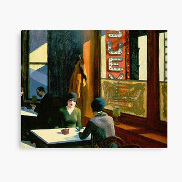 AMERICAN ARTIST. Edward Hopper. Chop Suey. Canvas Print