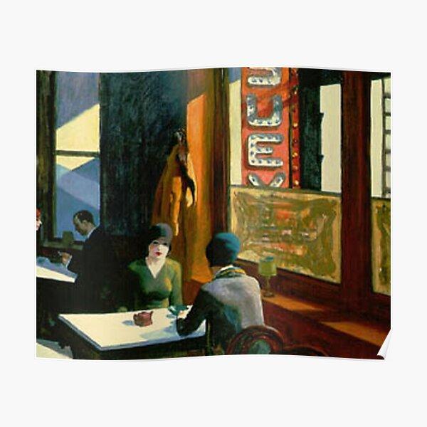 AMERICAN ARTIST. Edward Hopper. Chop Suey. Poster