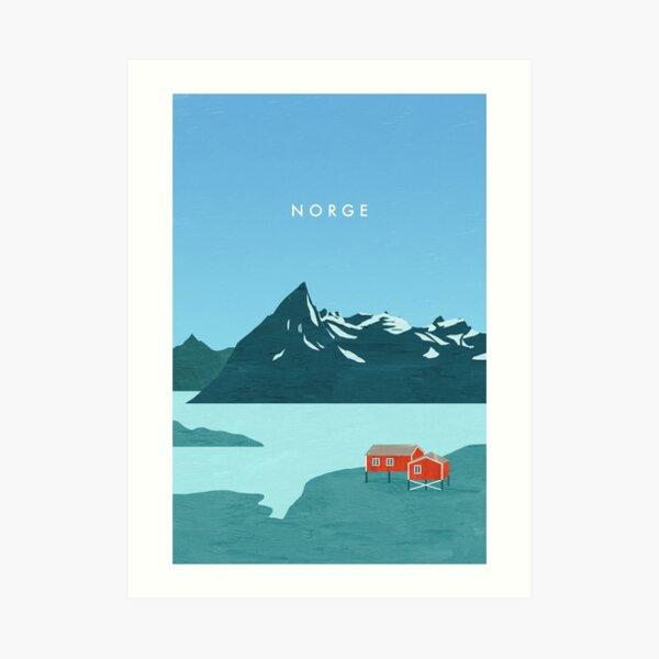 Affiche de voyage en Norvège Impression artistique