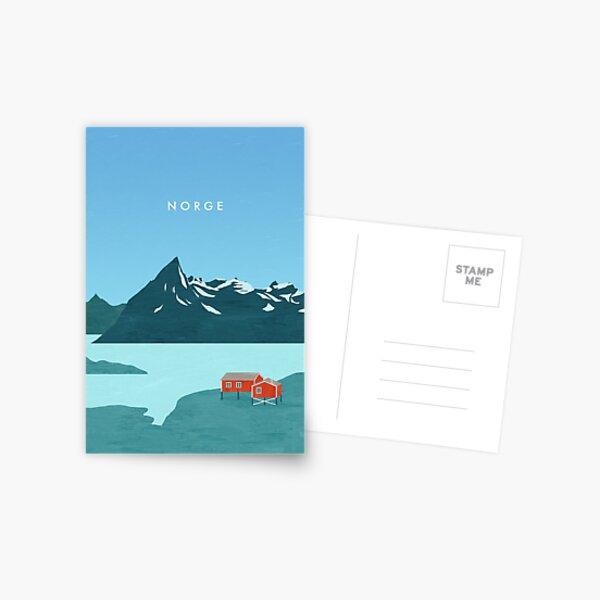 Norway travel poster Postcard
