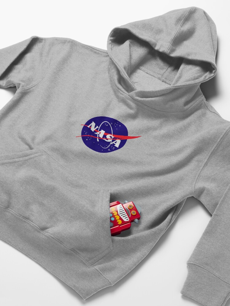 Alternate view of Official NASA (meatball) Logo Kids Pullover Hoodie