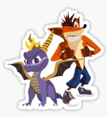 Orange & Purple Sticker