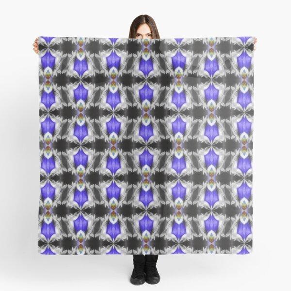 Blue Gentian Flower Abstract Art Scarf