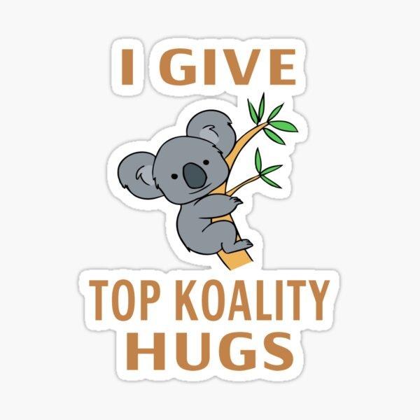 Doy los mejores abrazos de Koality Pegatina